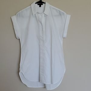 White short sleeve button up